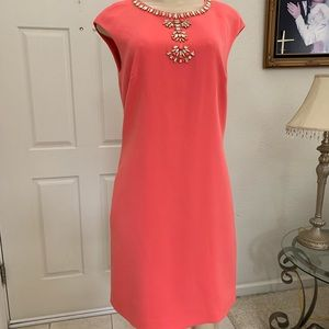 """""""VINCE CAMUTO"""" coral dress w/embellishments"""